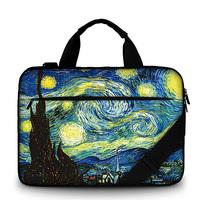 Van Gogh Oil Painting canvas Laptop Bag 17 inch canvas Laptop Case 15.6 Men's Shoulder Bag for Macbook Air 13 Pro