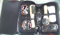 Traveling shoe polish gift set with leather bag for promotion