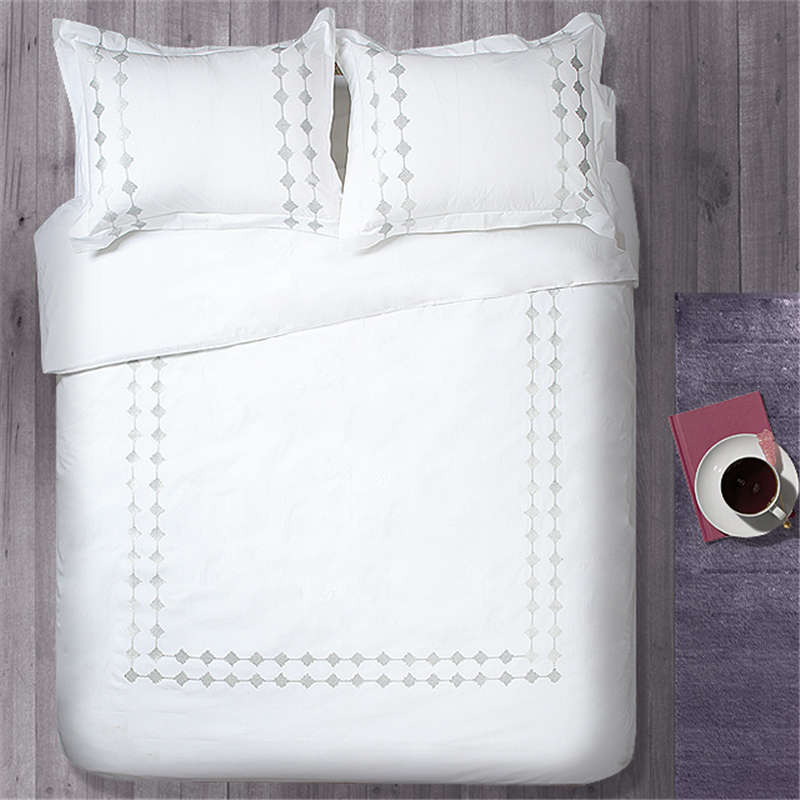 100% Cotton Wholesale White Bedding Duvet Cover Sets for Hotels Used