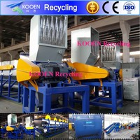 Strong force plastic crusher for recycling line