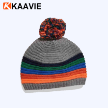 Women's winter warm knitted ski beanie free rasta hat crochet pattern with pom pom