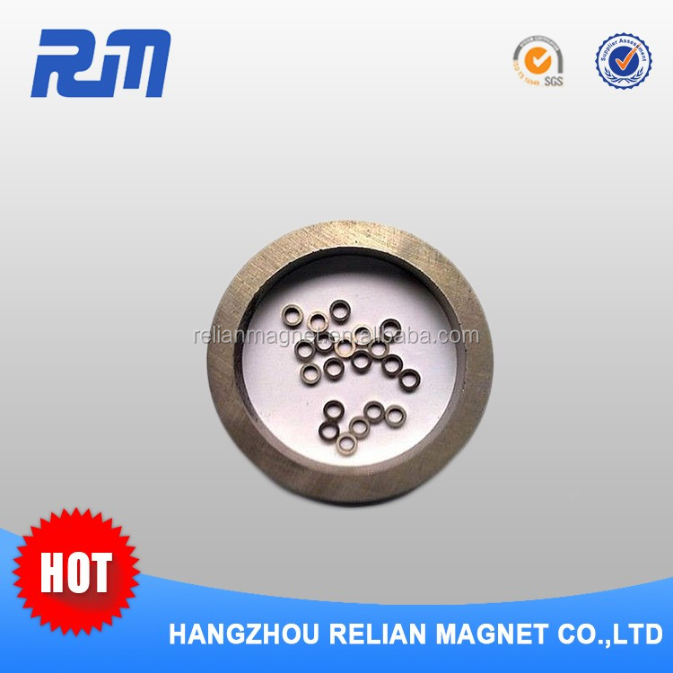 Free sample customized flexible rubber coated diametrically magnetized ring magnets