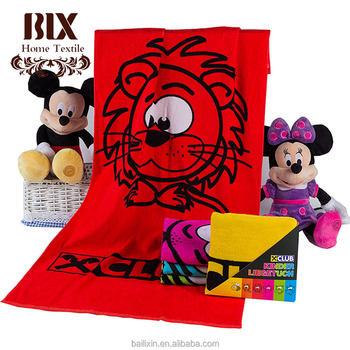 2018 china children advertising beach clips towel wholesale