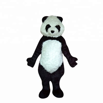 Carnaval animal Adultos Cosplay Custom Made Panda Mascot Costume para o Evento