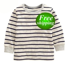 2019 Newest Stripe Shirt Boys Striped Shirt Kids Toddler Boy Shirts Wholesale Boys Clothing