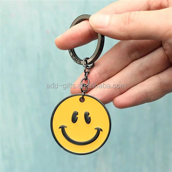 happy face keychain, face changing keychain, homemade keychain