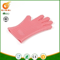 Silicone glove baking microwave cooking mitts kitchen heat resistant oven glove