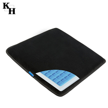 Hot sale cooling gel office and car memory foam seat cushion