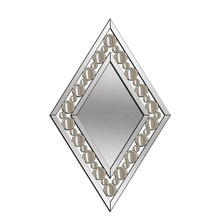 New fashion patented design venetian wall decorative home hotel mirror with crushed diamonds