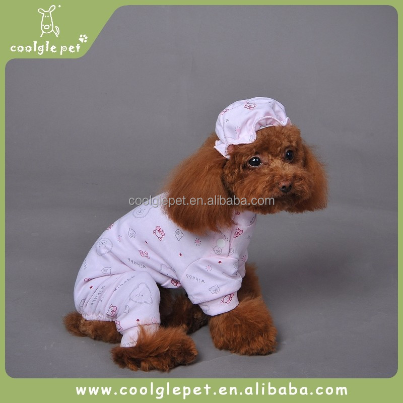 Candy Bear Sleep Suit With Hat Cute Dog Sleeping Wear Clothes Puppy Pet Dog Pajama