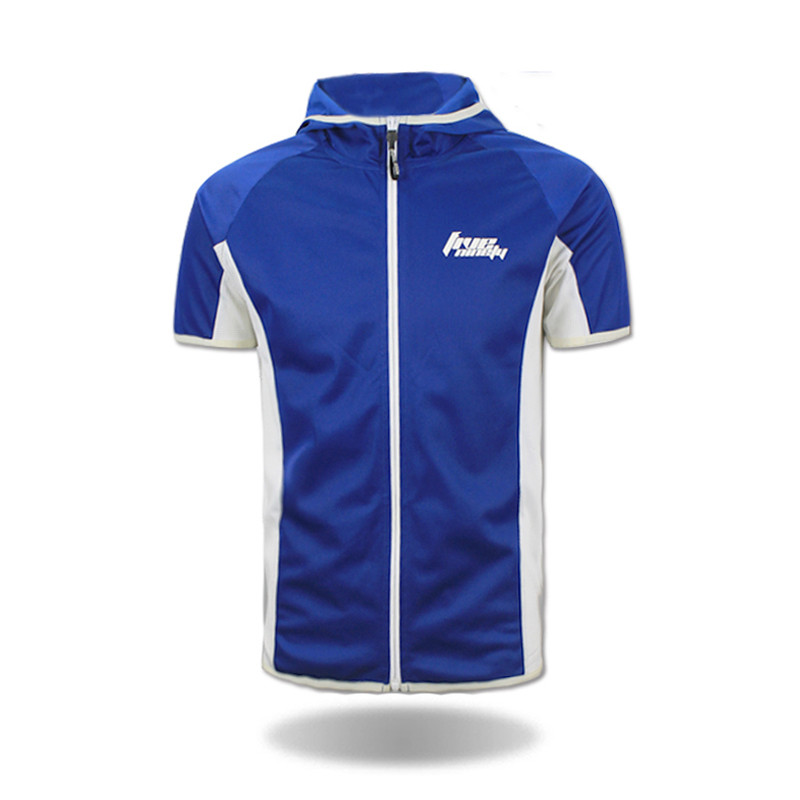 China wholesale short sleeve cycling shirts with hooded