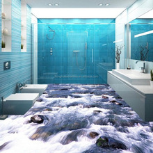 3D anti slip wear three-dimensional floor tiles ecological creative streams background wall tile