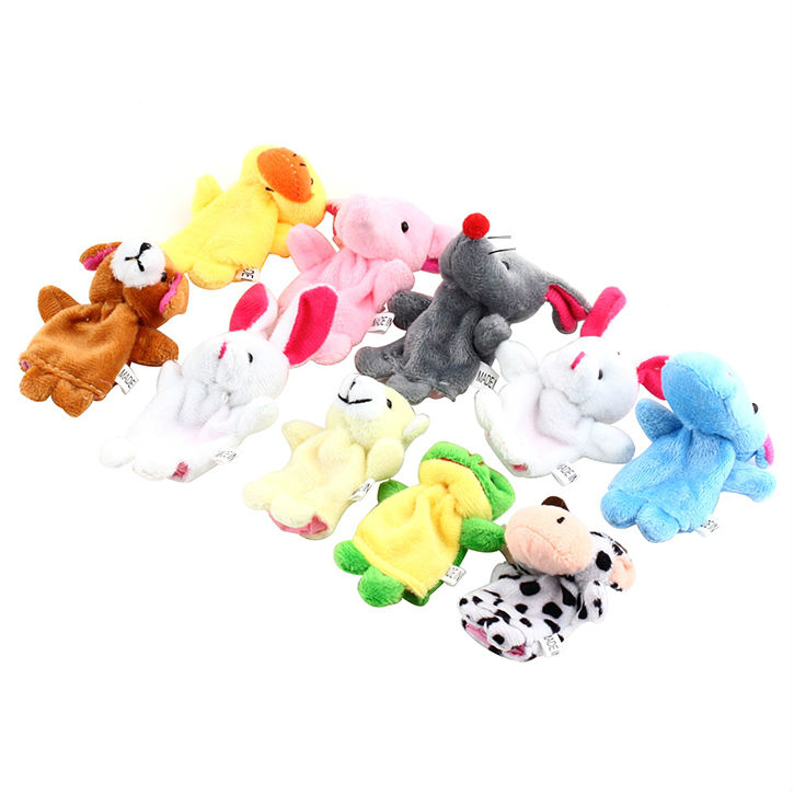 Preschool Educational Toys For Baby Kids Finger Puppets animals Plush Toys Bright color attractive
