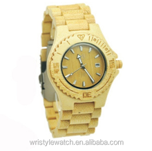natural beauty 100% hand-made bamboo watches, wholesale bamboo watches with japan movement