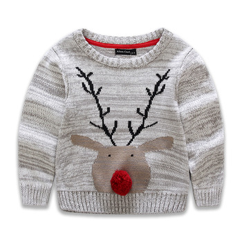 B40696A 2017 new design kids clothing boy Christmas deer sweaters