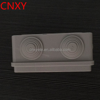 Grey electrical box with cable hole provision 145*110*60mm