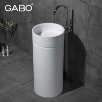 Artificial Stone Antique Design Bathroom Vanity Pedestal Basin