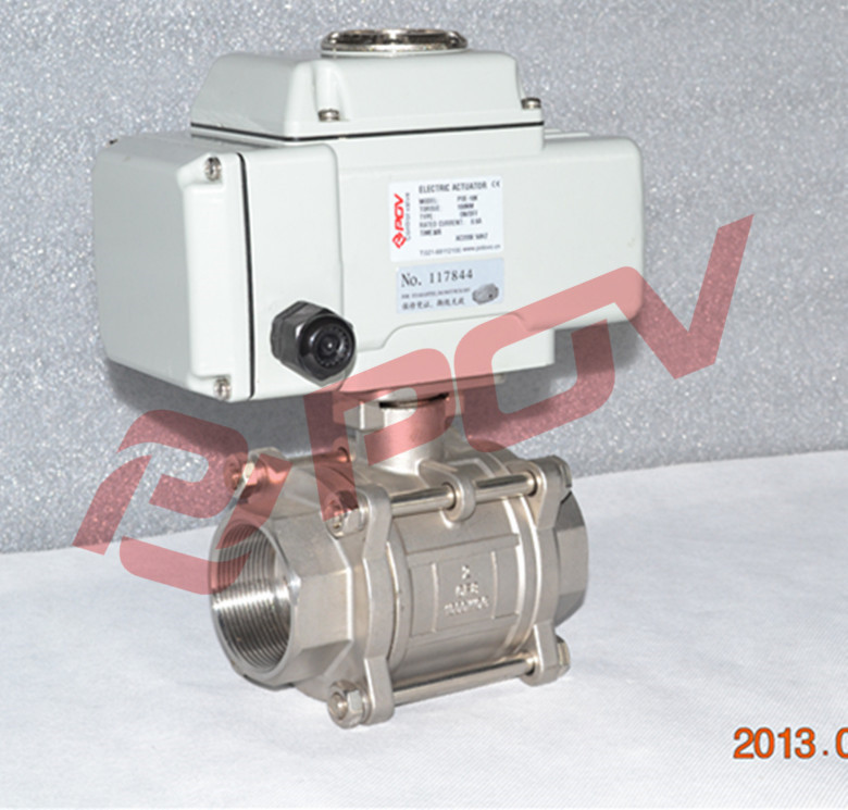 3pc stainless steel ball valve 4-20mA electrically adjustable valve <strong>1</strong> <strong>1</strong>/4''
