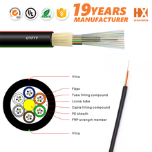 stranded loose tubes non-metal GYFTY OM3 Optical Fiber Cable