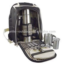 camping picnic cooler bag with tableware sets