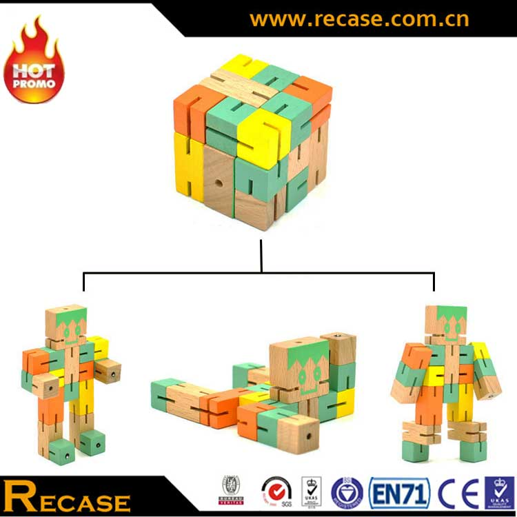 Changeable Cube Puzzle For Children Educational Magical Wooden Toy High Quality Children Toys And Games JE2