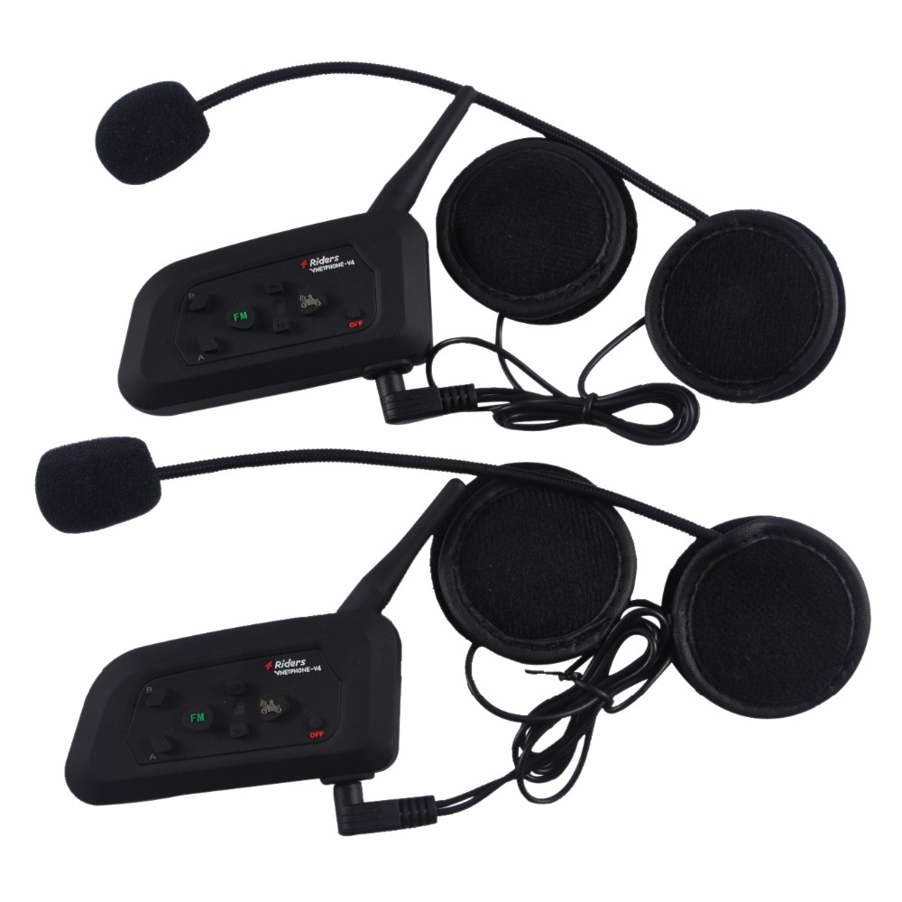EJEAS v4 made in china sport headset 4 riders intercom for helmet