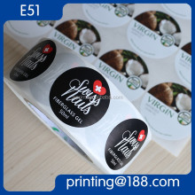 Adhesive Cosmetic Bottle Label, Adhsive Bopp Label For Cosmetic Bottle, Custom Printed Cosmetic Foil Label