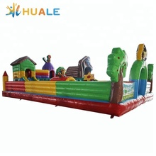 Huale bear model inflatable jumping bouncy castle combo