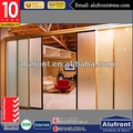 high quality AS2047 aluminium folding movable office partition door with frosted