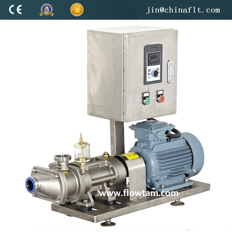 Stainless steel VFD speed control double screw pump