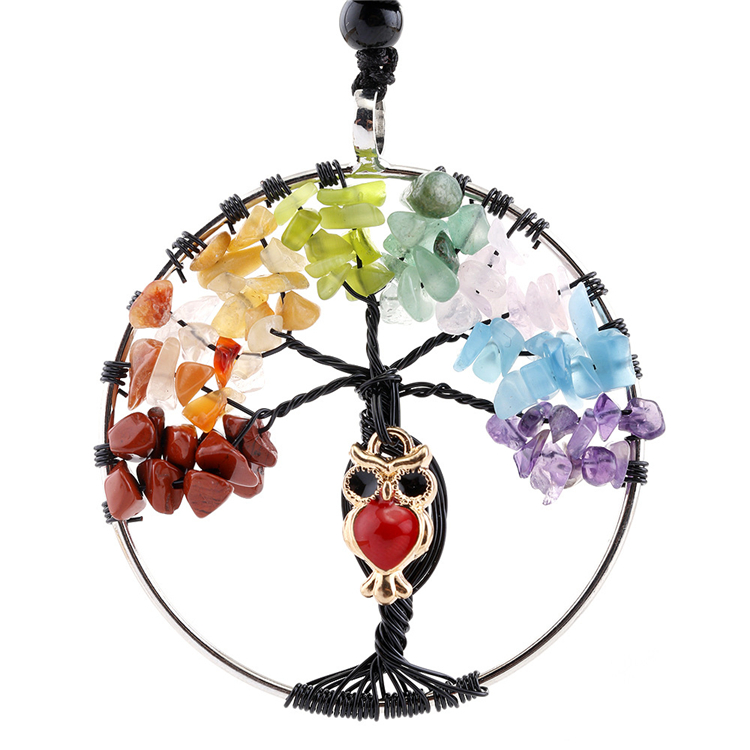 Tree of Life Pendant Natural Gemstone Jade Pendant Necklace for Women