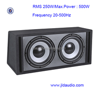 factory direct sale 250W RMS and ported dual 12inch passive subwoofer new products 2016 speakers professional