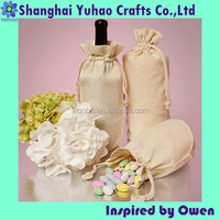 Round Bottom Cotton Muslin Bag for wine promotion packaging