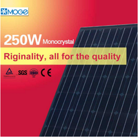 Moge monocrystal 250w solar photovoltaic panel power system bank for home