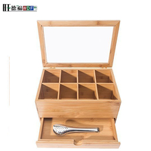 factory customized small wooden bamboo tea box