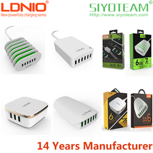 mobile phone multi port usb chargers LDNIO 5.4A-7.0A Auto ID Quick and Stable universal mobile phone multi port usb chargers