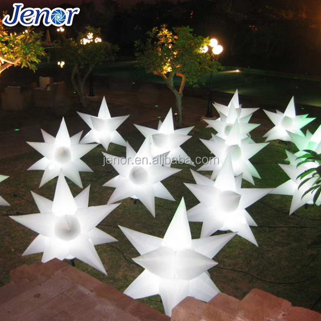 LED wedding decoration white inflatable star with remote control