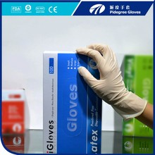 Top quality powdered and powder free disposable latex examination gloves