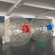 HI 2m 0.8mm PVC giant inflatable outdoor clear plastic zorb ball