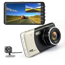 "2018 New Style 4"" 140 Degree 1920X1080P Full Hd 1080P Dual Lens Car Camera"
