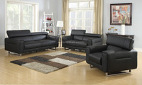 Zoy Modern Leather Air Corner Sofa Set Designs & Office Furniture 97510