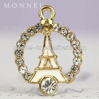 H486 Wholesale Exquisite Mini Crystal Paris Eiffel Tower Model For Wedding Souvenirs