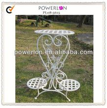 Outdoor 2 tier wrought iron plant stands
