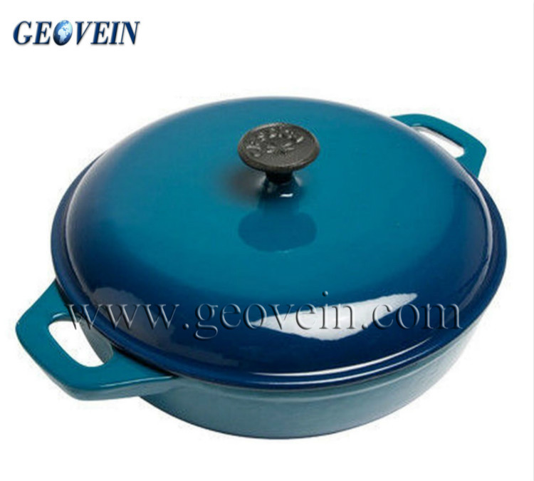 Best selling round enamel coated cast iron cookware set