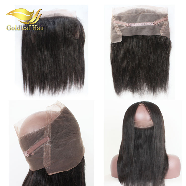 2016 New Arrivals Custom brazilian straight hair 360 lace frontal 100% human hair wigs for black women