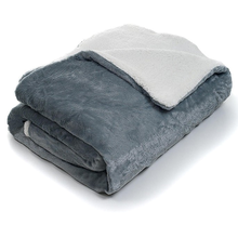 SZPLH Super soft plush fleece sherpa borrego blanket throw