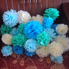 China Regional Feature and Paper Flower Product Type round paper flower balls
