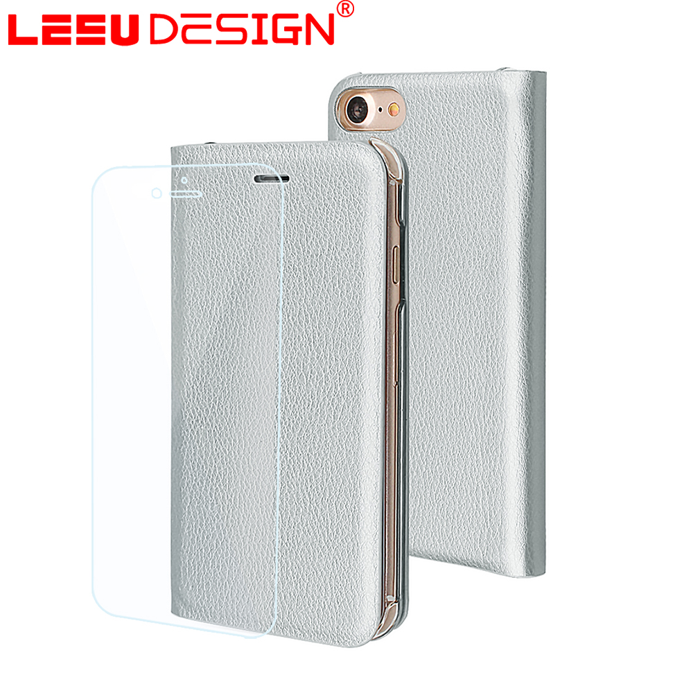 LEEU DESIGN PU leather card holder wallet case for iphone 7 case leather wallet