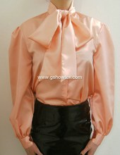 Shinning chiffon blouse for middle aged women