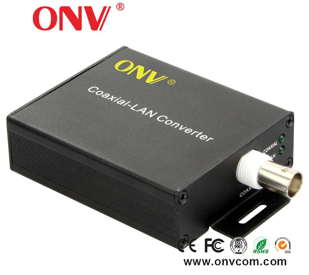 10/100M EOC Ethernet over coax converter with 1x BNC Port and POE BNC 485 Coaxial to Rj45